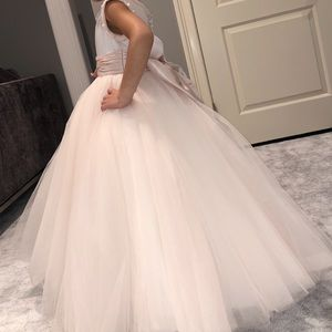 Toddler princess flower girl dress